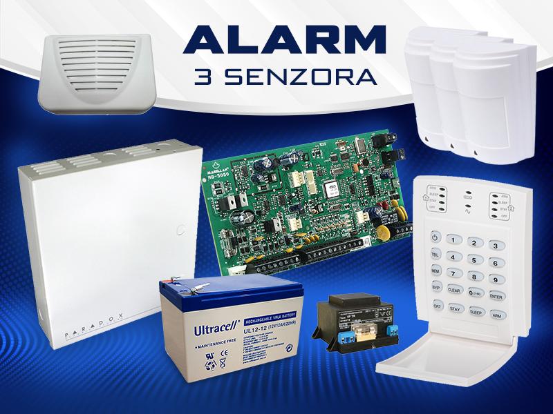 Alarm 3 senzora